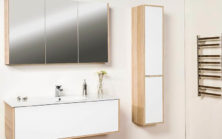 Mode Esteem 1200 With Maching Tall Boy & Mirrored Shaving Cabinet