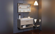 Mode Eve 900 With Tilt Door Mirrored Shaving Cabinet