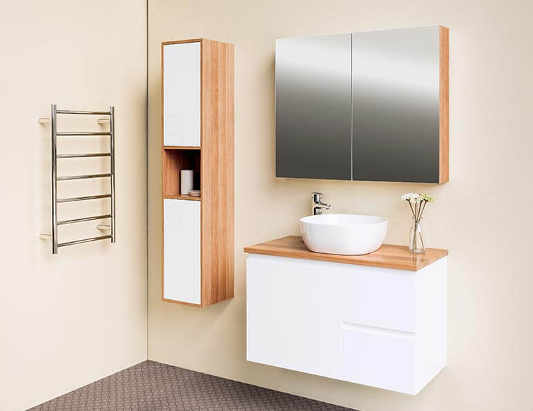 Mode Metro 900 With Matching Tall Boy & Mirrored Shaving Cabinet