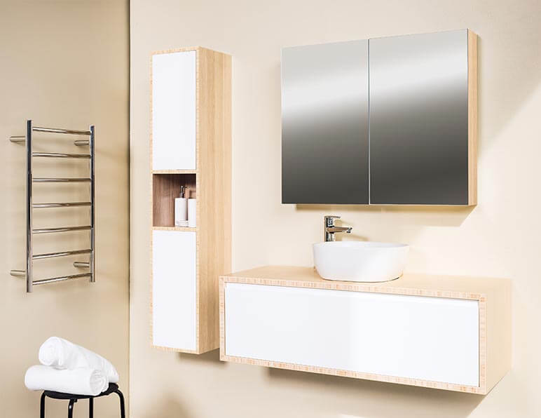 Mode Pure 1200 With Matching Tall Boy & Mirrored Shaving Cabinet
