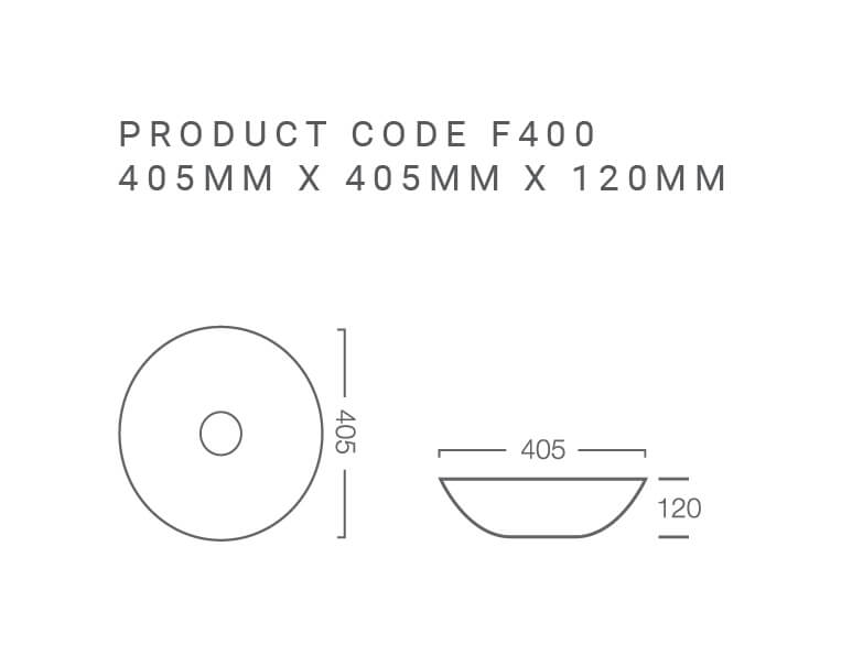 Focus 400 Above Counter Basin