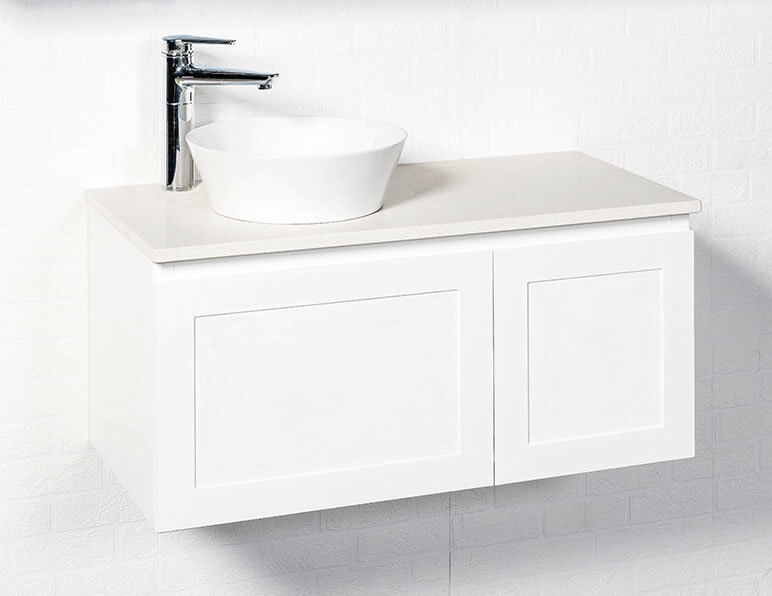 Virtue Vanity 900 With Stone Top & Sleek Offset Basin